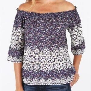 Kut from Kloth OTS Floral Bobby Top